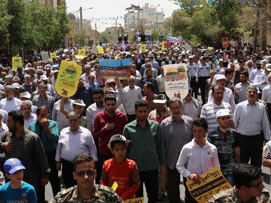 مراسم راهپیمایی روز جهانی قدس در کاشان