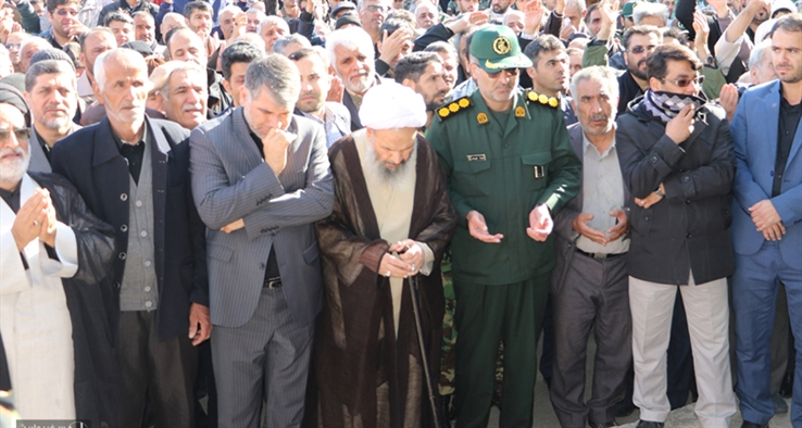 مراسم تشييع باشكوه شهدای تروريستی زاهدان در كاشان