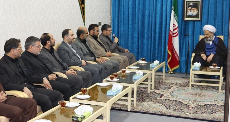دیدار مدیر کل دادگستری استان اصفهان با نماینده ولی فقیه و امام جمعه کاشان