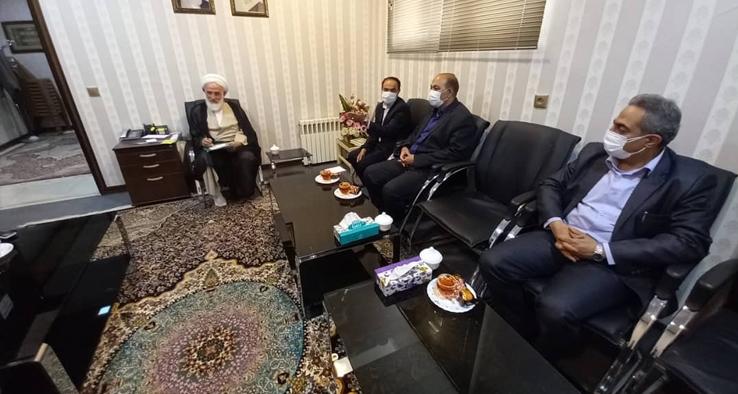 دیدار دادستان محترم آران و بیدگل با نماینده مقام معظم رهبری در منطقه کاشان
