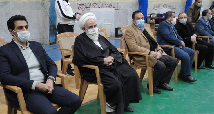 حضور آیت الله سلیمانی در فینال و اختتامیه مسابقات والیبال نوجوانان باشگاههای ایران در کاشان