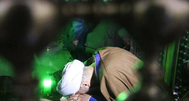 مراسم غباروبی مضجع شریف حضرت سلطانعلی بن امام محمد باقر علیه السلام (مشهد اردهال)