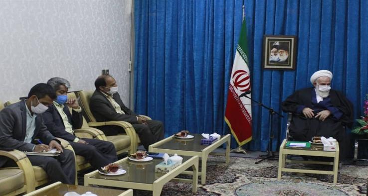 دیدار امام جمعه، شهردار و اعضای محترم شورای شهر نوش آباد با آیت الله سلیمانی