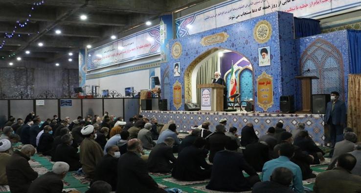 نماز عبادی سیاسی جمعه کاشان مورخ پانزدهم اسفند ماه 1399