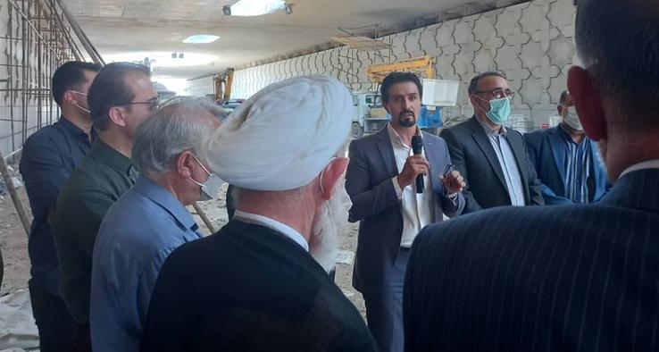 بازدید آیت الله عباسعلی سلیمانی از پروژه زیرگذر سپهد شهید حاج قاسم سلیمانی