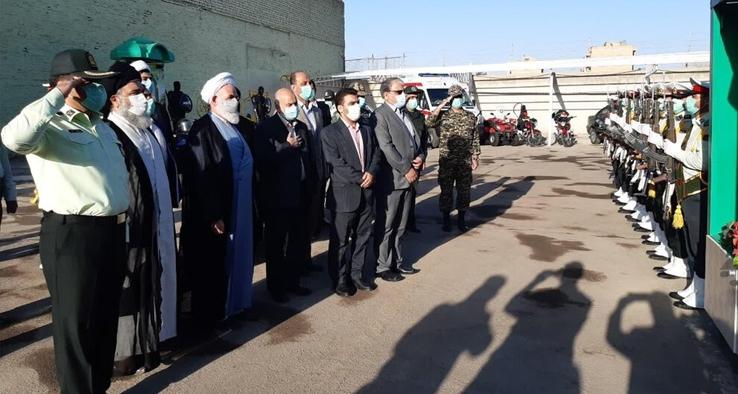 مراسم صبحگاه مشترک نیروهای مسلح کاشان به مناسبت هفته نیروی انتظامی